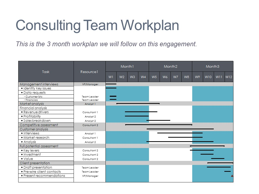 Consulting Timeline