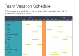 Team Vacation Gantt