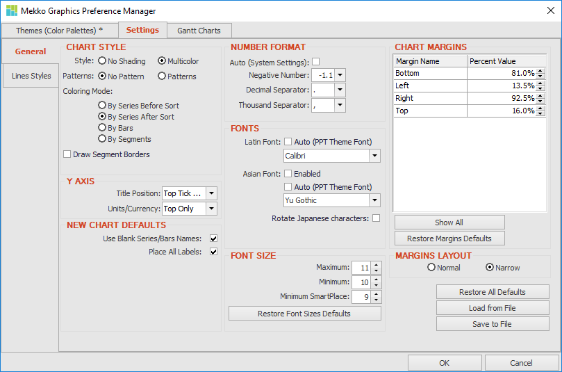 Preference Manager Settings